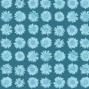 daisy dots - light blue on kingfisher blue
