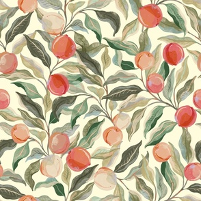 Painterly Pastel Peaches