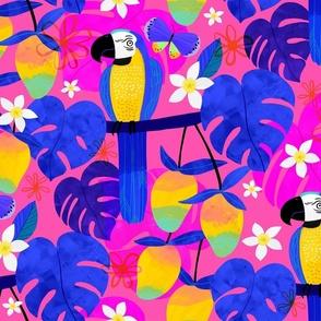 Mangoes Monstera and Macaws
