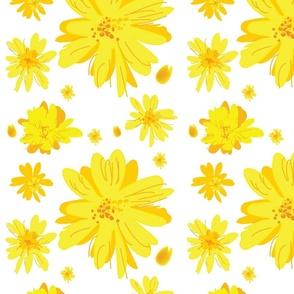 Large Daisy Seamless (transparent background)