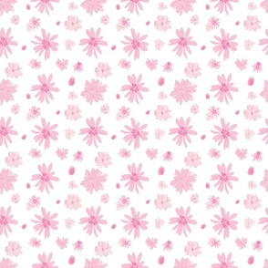 Pink Daisy Faire Seamless (transparent background)