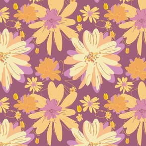 Plums & Peaches Celebration, Daisies Collection