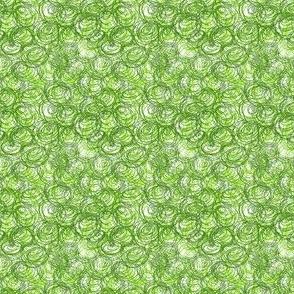 Abstract green circles.