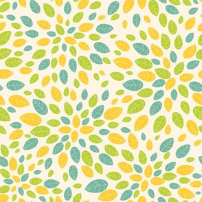 Leaves. Green - yellow