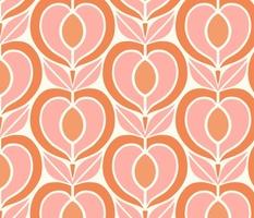 I Heart Retro Fruit - Large Scale Peach