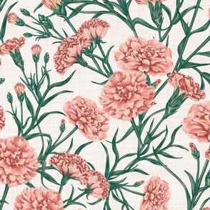 Pink Carnation (White)