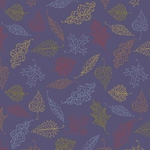 swirling leaves - autumn colors on blueberry