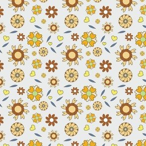 Abstract Flower Pastel Yellow