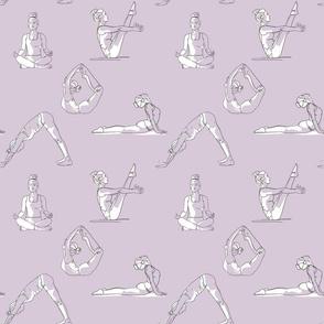Yoga silhouettes white on teal