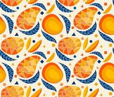 Geometric Mangoes_Linen White