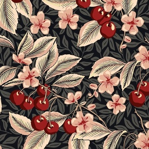 Cherries - Extra Large - Red, Pink, Black