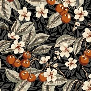 Cherries - Extra Large - Terra Cotta, Sage, Cream, Black