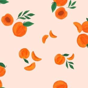 Peaches on pink - medium / large