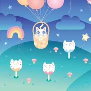 Cat Balloons Play Mat