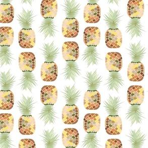 Pineapple Dream Pattern (transparent background), Hawaiian Vacation