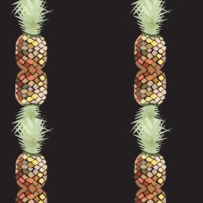 Pineapple Mosaic Pattern (transparent background), Hawaiian Vacation