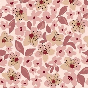 plum blossoms light pink small scale