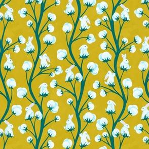 Cottontail Bunnies Mustard