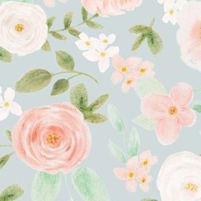 Vintage floral  10 inch