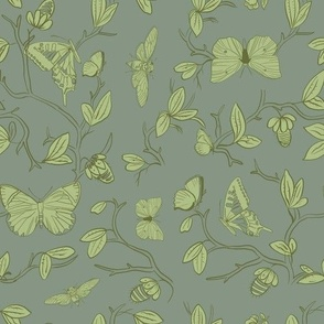 butterfly pavilion in green