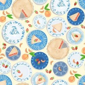 Blue Plate Special Strawberry Peach Pie - Cream