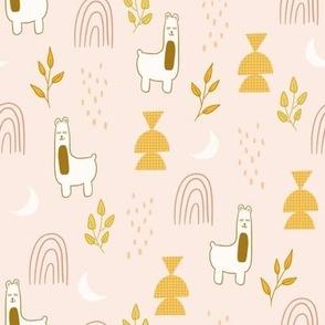 Boho Llama Pink