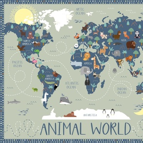 Animal World Playmat