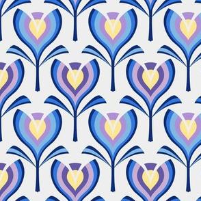 Spring tulips - blue