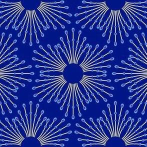 Starburst beads - blue on navy