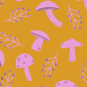 Mushrooms in Marigold