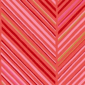 Papercut Herringbone M+M Goji by Friztin