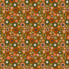 Multicolored flowers II, small