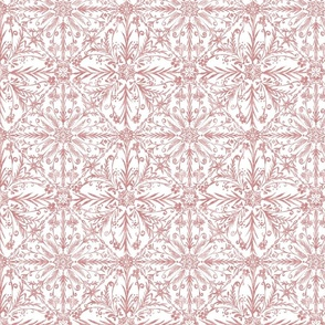 Floral Moroccan Tiles (Red) - Small Scale