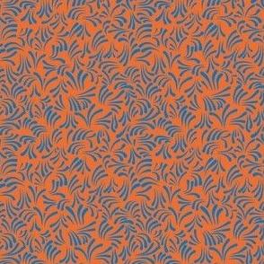 wavy kurbits small orange blue