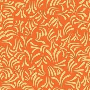 wavy kurbits medium orange yellow