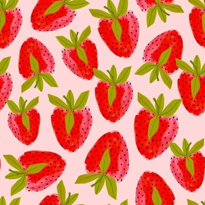 Strawberry Watercolor Toss Lg