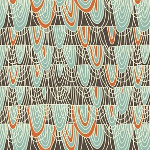 tribal lace doodle pattern