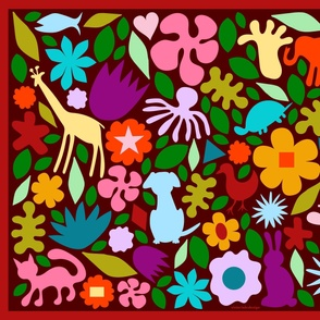 Animal Garden Seek & Find Play Mat 42 x 36