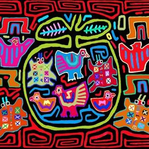 Tribal Mola Folk Art Play Mat - Mola Wall Hanging