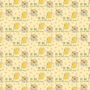 Be The Sunshine Happy Quote Chick small scale On Yellow