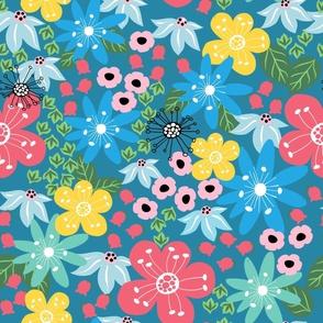 Wildflowers Cornflower Blue