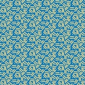 Envelope Lines and Dots Blue yellow small