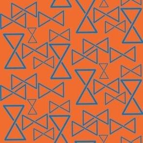 Nordic mobius triangle orange blue large