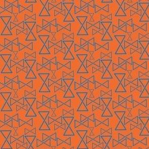 Nordic Mobius triangle orange blue small