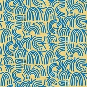 Rune Stone Rainbow swish yellow blue Medium