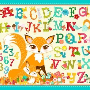 Lil Foxes ABCs & 123s Playmat Yard