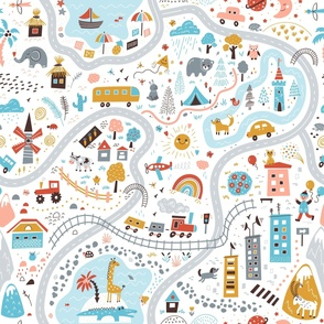 world travel playmat