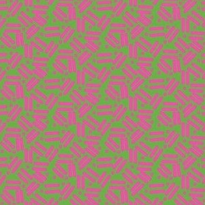 Envelope Lines and Dots Green Pink Medium