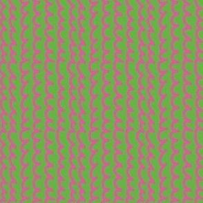 squiggles Vertical Green pink medium