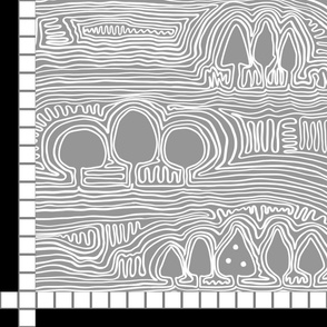 """Find the Trees in the Wood (for YARDs in 42"""" fabrics, Pewter) Playmat by Su_G_SuSchaefer2021"""